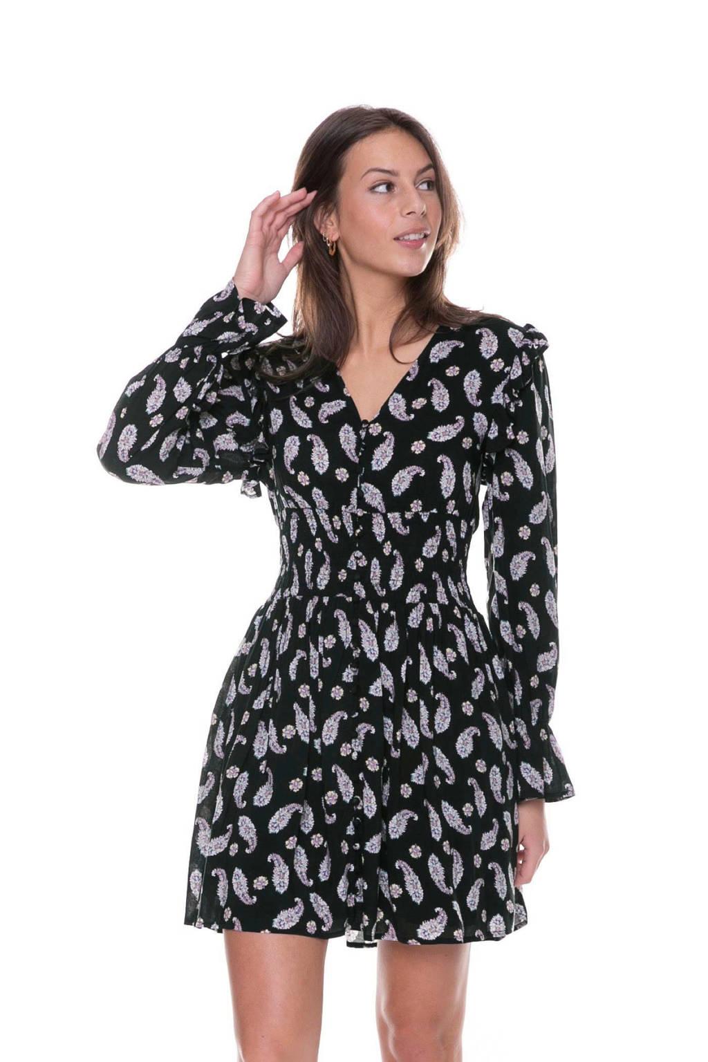 Colourful Rebel jurk Tessa Paisley zwart, Zwart