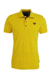 PME Legend slim fit polo met all over print geel, Geel