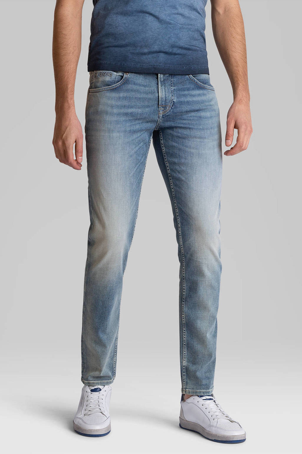 PME Legend slim fit jeans Freighter blauw, Blauw