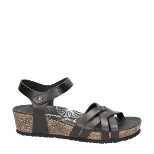 Chia Nature  leren sandalen zwart