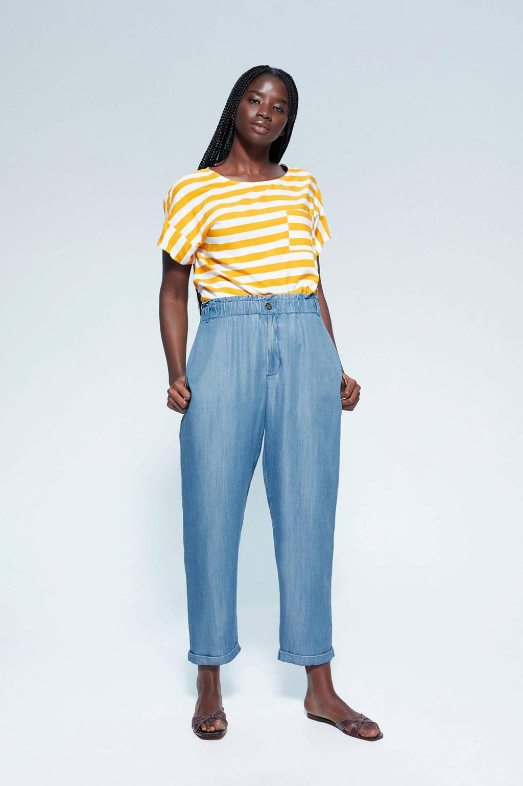 Violeta by Mango straight fit broek lichtblauw, Lichtblauw
