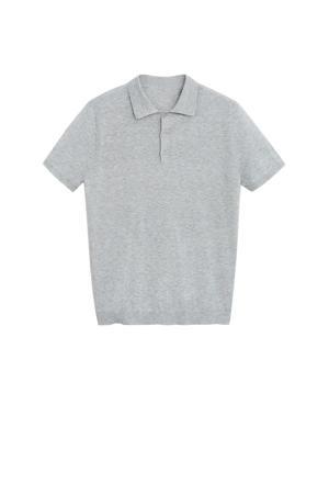 regular fit polo grijs