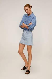 Mango spijkerrok, Light blue denim