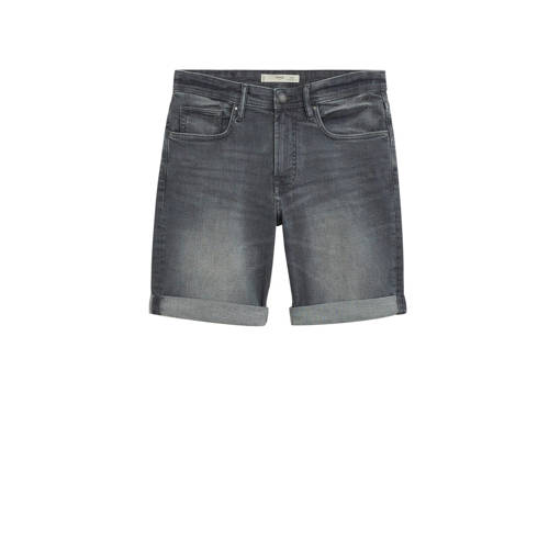 Mango Man regular fit jeans short changeant grijs