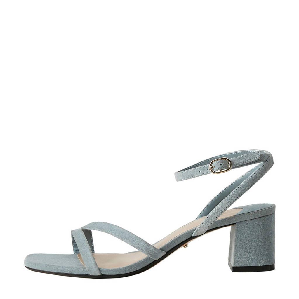 Violeta by Mango   suède sandalettes pastelblauw