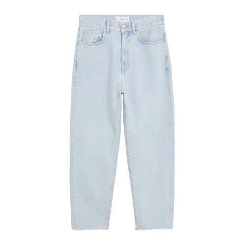 Mango cropped high waist straight fit jeans light