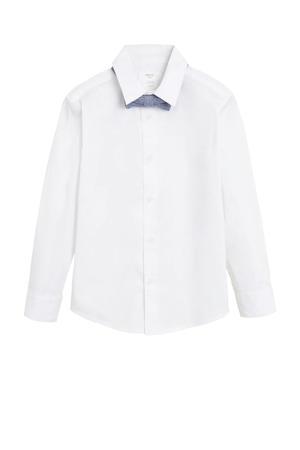 overhemd met vlinderstrik wit