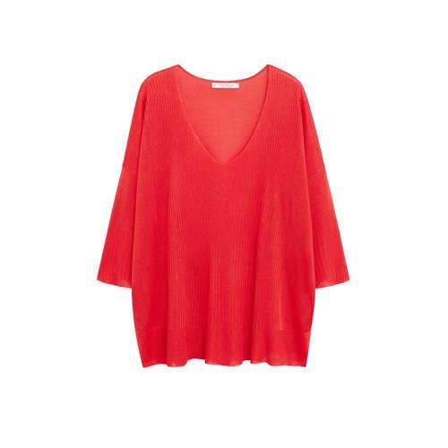 Violeta by Mango fijngebreide trui rood