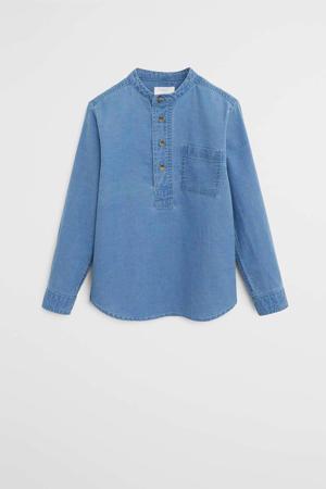 denim overhemd denim blauw