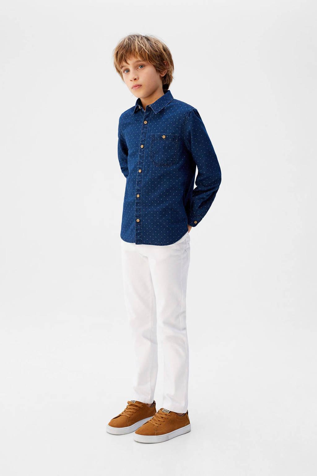 Mango Kids overhemd blauw, Blauw
