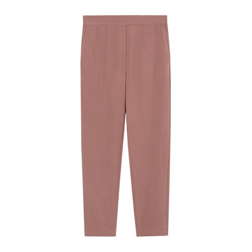 Mango cropped straight fit pantalon oudroze