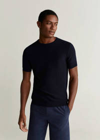Mango Man T-shirt marineblauw, Marineblauw