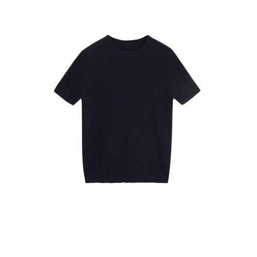 Mango Man T-shirt marineblauw