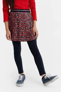 WE Fashion plissé rok rood/roze/groen, Rood/roze/groen