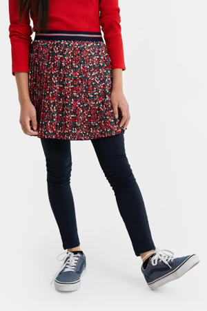 plissé rok rood/roze/groen