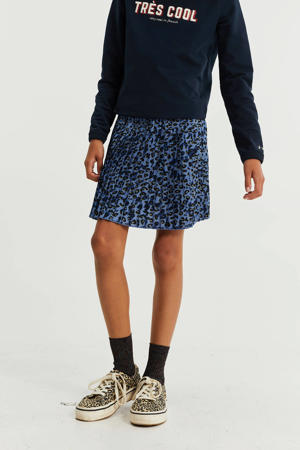 rok met panterprint deep blue