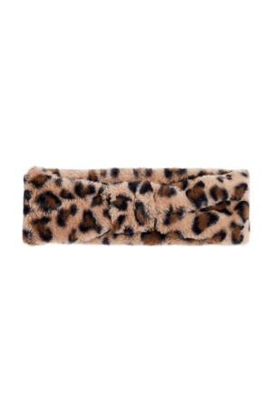 hoofdband met panterprint bruin