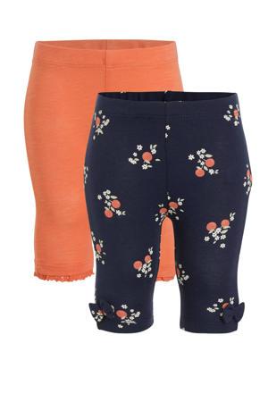 capri legging - set van 2 roze/donkerblauw