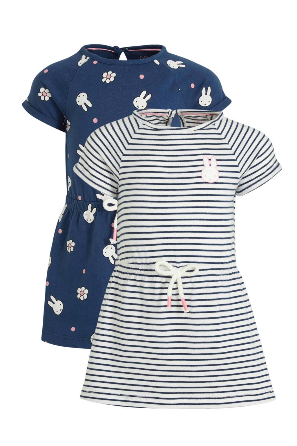 C&A jurk Nijntje - set van 2 blauw/donkerblauw, Donkerblauw