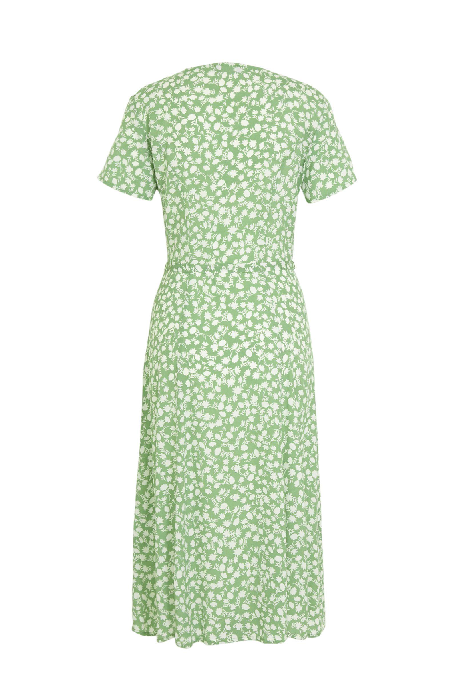 C&A Yessica gebloemde jersey jurk mintgroen