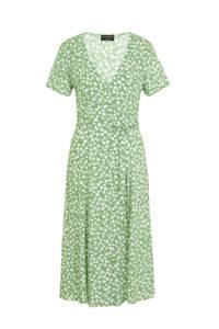 C&A Yessica gebloemde jersey jurk mintgroen, Mintgroen