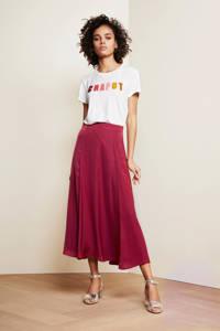 Fabienne Chapot T-shirt Terry met tekst en 3D applicatie wit/multi, Wit/multi