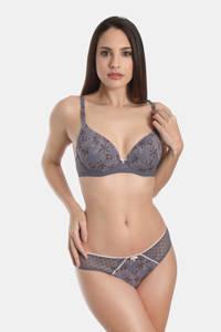 Sassa Mode gebloemde slip Exclusive Autumn blauw, Blauw