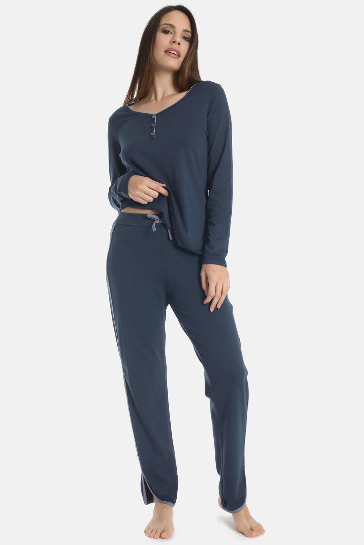 Sassa Mode pyjamabroek Misty Garden donkerblauw, Donkerblauw