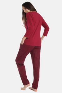 Sassa Mode pyjamatop Flowery Aspect donkerrood, Donkerrood