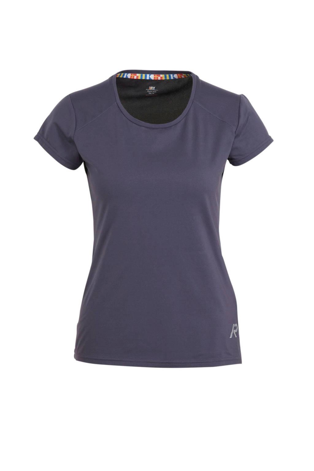 Rukka sport T-shirt Mustiala paars/zwart, Paars/zwart