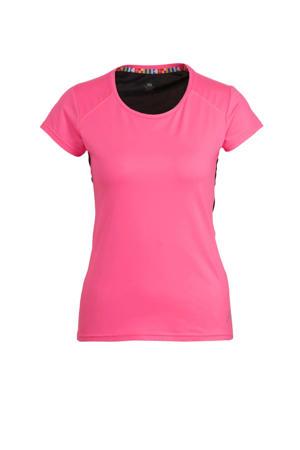 sport T-shirt Mustiala roze/zwart