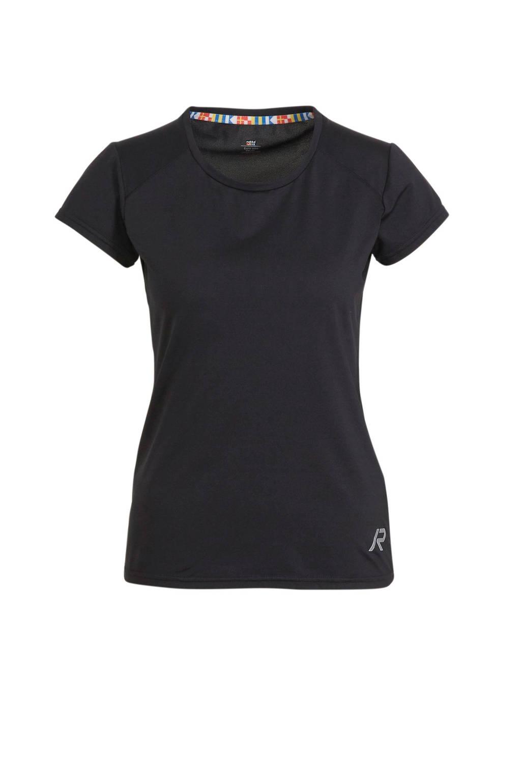 Rukka sport T-shirt Mustiala zwart, Zwart