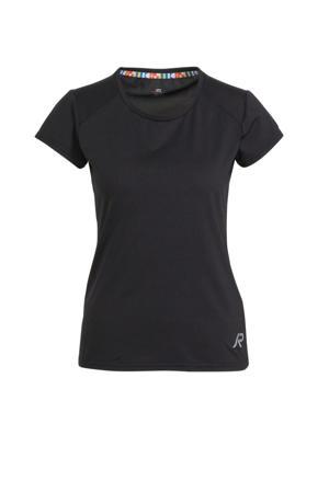 sport T-shirt Mustiala zwart