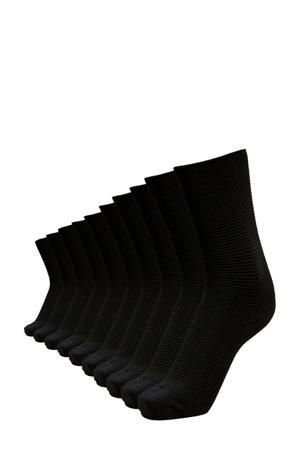 sokken - set van 10 zwart