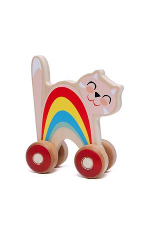 houten Duwfiguur Kat