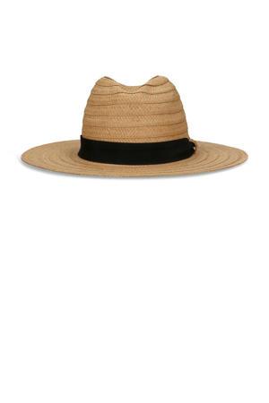 hoed van papierstro beige
