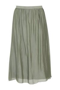 Paprika semi-transparante zijden rok groen, Groen
