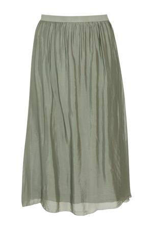 semi-transparante zijden rok groen