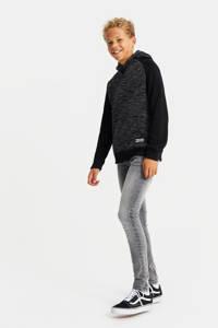 WE Fashion gemêleerde hoodie zwart, Zwart