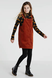 WE Fashion longsleeve Elisa nyla met dierenprint zwart, Zwart