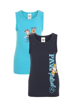 hemd Paw Patrol - set van 2 blauw/donkerblauw