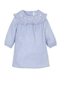 C&A Baby Club baby jurk met ingenaaid rompertje lichtblauw, Lichtblauw
