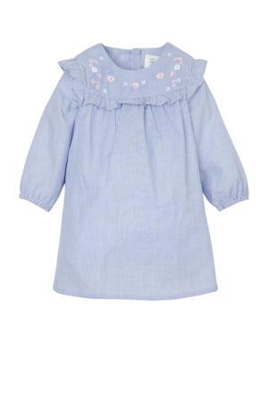 baby jurk met ingenaaid rompertje lichtblauw