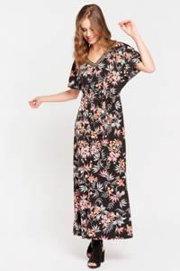 LOLALIZA gebloemde jurk black beauty