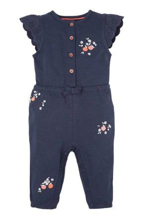 baby jumpsuit van biologisch katoen donkerblauw