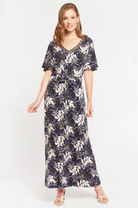 LOLALIZA gebloemde jurk navy mild, NAVY MILD