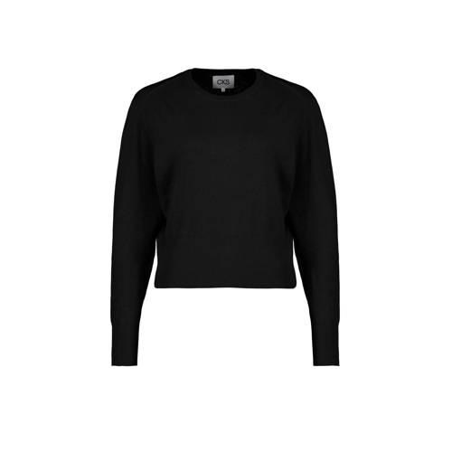CKS fijngebreide trui zwart