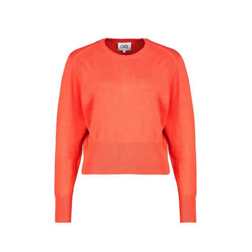 CKS fijngebreide trui oranje