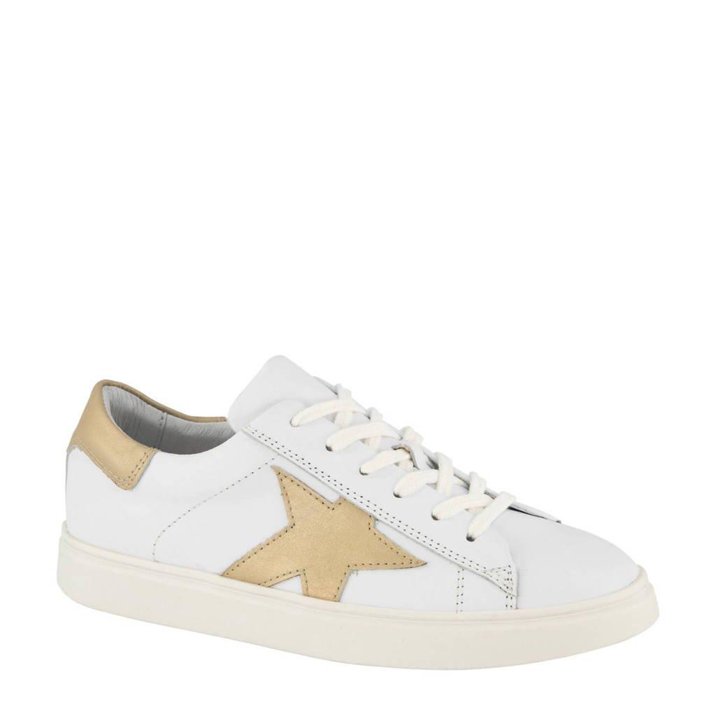5th Avenue   leren sneakers wit/goud, Wit/goud