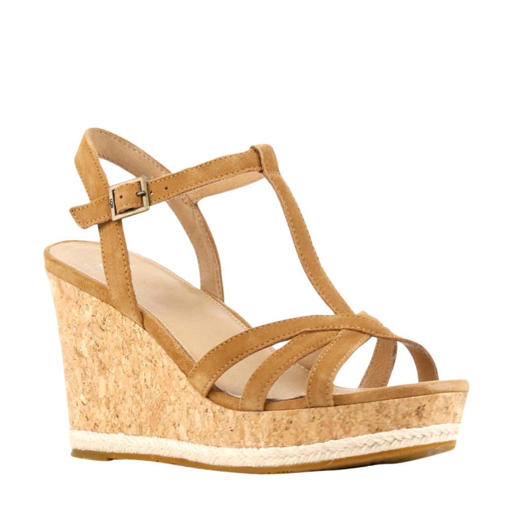 UGG Melissa  suède sandalettes bruin, Lichtbruin